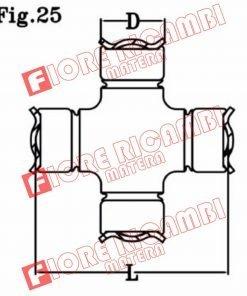 CR741 CROCIERA CARDANICA 22X63,5 FORD